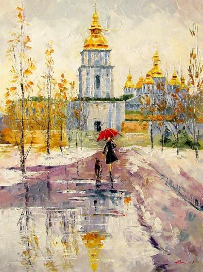 Картина «Поздняя осень в Киеве»