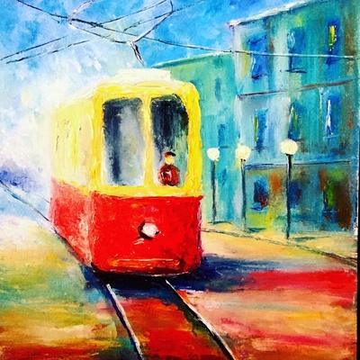 Картина «Радостный львовский трамвай»