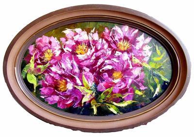 Картина «Розовые пионы» 2