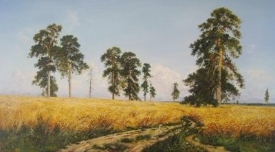 Картина «Рожь» копия картины Ивана Шишкина