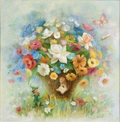 Картина детям «Серенада» купить живопись для детской комнаты Киев