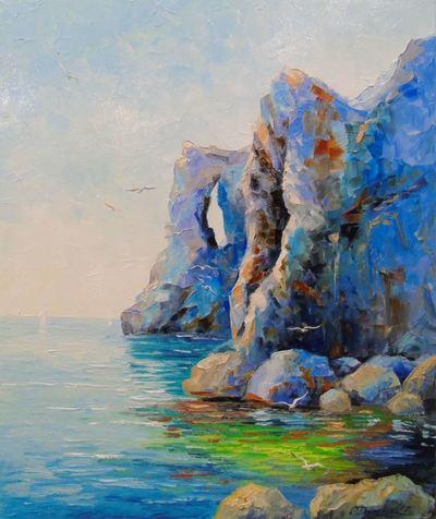 Картина «Скалистый берег у моря»