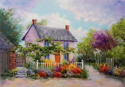 Картина «Сказочный домик»
