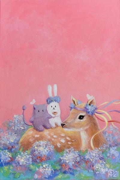 Картина детям «Чаепитие с друзьями» купить картину маслом Киев