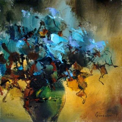 Картина маслом с цветами «Вечерний букет» купить живопись для современных интерьеров Киев