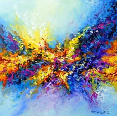 Абстрактная картина «Все течет, все меняется» купить живопись для современных интерьеров Украина