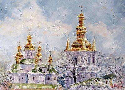 Картина «Зимняя Лавра»