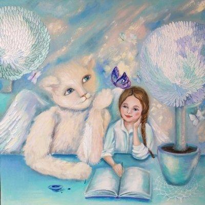Картина маслом «Бабочка» купить живопись для современных интерьеров Украина