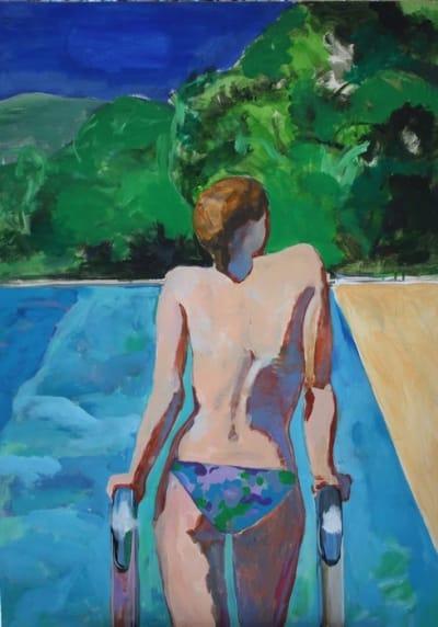 Картина для современных интерьеров «Бассейн» купить живопись Киев