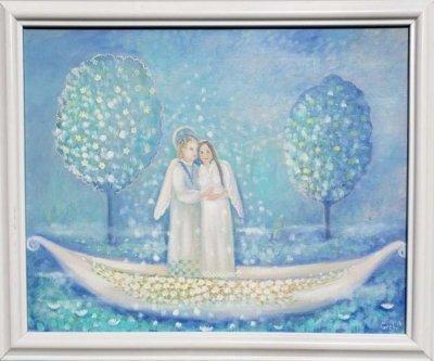 Картина маслом «Благословение ангела» купить живопись для современных интерьеров Украина