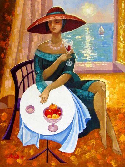 Картина «Бокал вина»