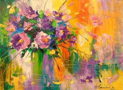 Картина «Букет луговых цветов»