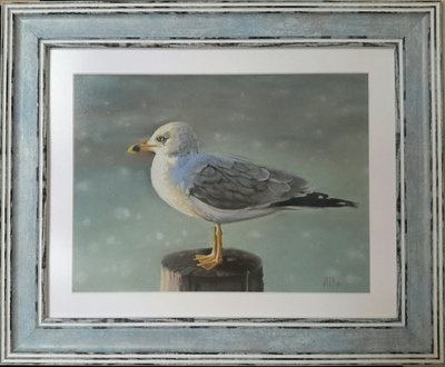 Картина «Чайка в лучах рассвета»