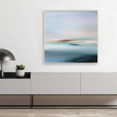 Красивая картина современной художницы  «Чистые воспоминания» купить картину для современного интерьера