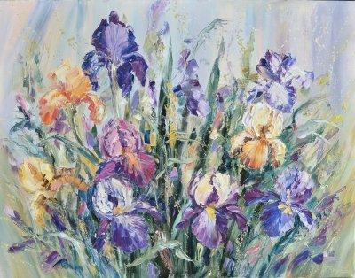 Картина маслом цветы «Цвет настроения» купить современную живопись Киев