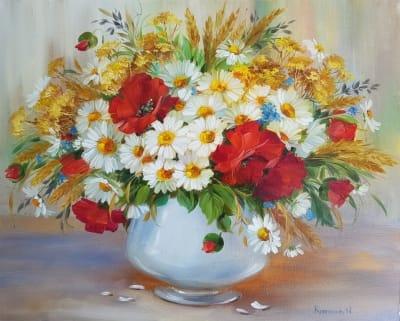 Картина «Украинское лето... Полевые цветы»