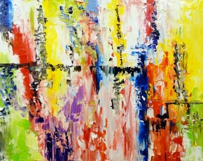 Абстрактная картина «Радость» купить живопись для современных интерьеров Украина