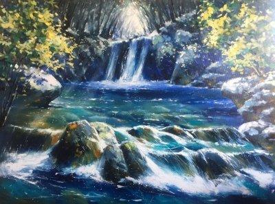 Картина горный пейзаж «Дыхание гор» купить живопись для современных интерьеров Украина