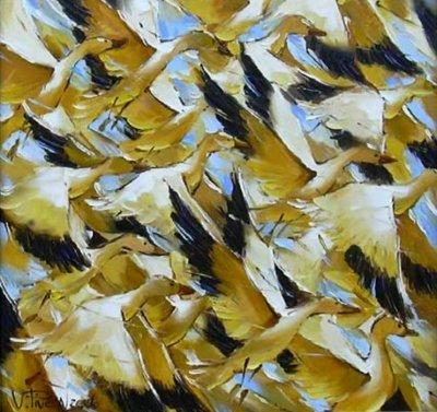 Картина маслом «Динамика» купить живопись для современных интерьеров Украина