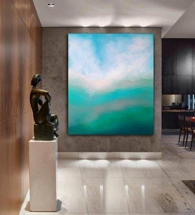 Картина маслом для дизайна современных интерьеров «DEEP INSIDE» 2 абстрактное море живопись Киев