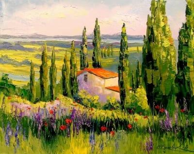 Картина маслом «Домик в Провансе» - современная живопись Украина