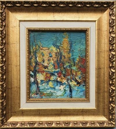 Картина маслом пейзаж «Фонтан возле Золотых ворот» купить современную живопись Украина