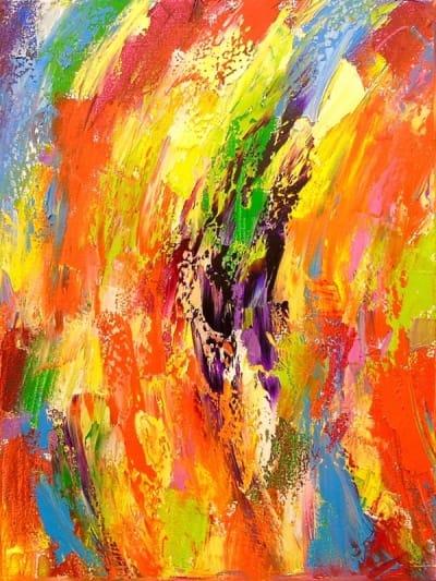 Картина маслом абстракция «Движение» - картины для современных интерьеров Украина