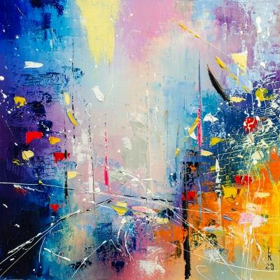 Картина маслом абстракция «Фантазия» купить живопись для современных интерьеров Украина