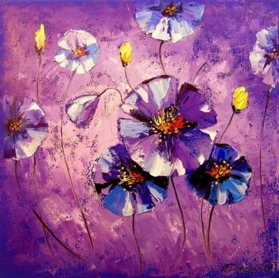 Картина «Фиолетовые цветы»
