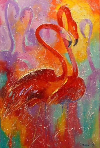 Картина «Фламинго» 2