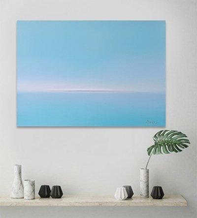 Картина маслом морской пейзаж «Tender Deep Vibes» купить живопись для современных интерьеров
