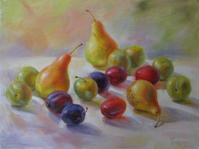 Картина «Груши со сливами»