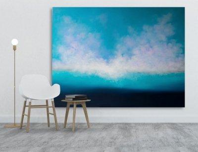 Картина маслом море для современных интерьеров «ГЛУБОКО ВНУТРИ» купить живопись Киев