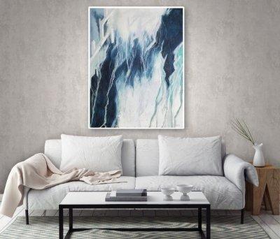 Абстрактная картина «Любовь: сила резонанса» купить живопись для современных интерьеров
