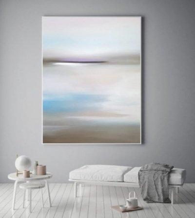 Картина море для современных интерьеров «Нежное море» купить картины абстракция