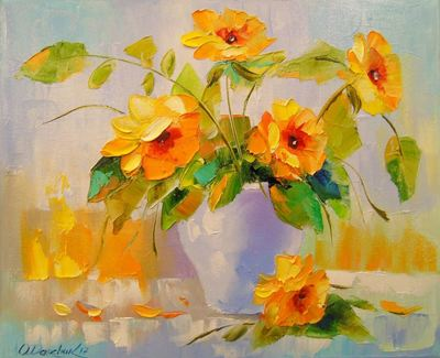 Картина «Желтые цветы»