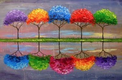 Картина маслом «Каждое дерево имеет свой запах» - купить живопись для современных интерьеров Киев