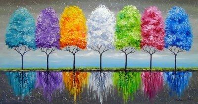 Абстрактная картина «Каждое дерево имеет душу» купить живопись для современных интерьеров Украина