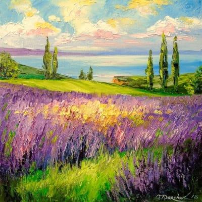 Картина «Лавандовое поле» 2