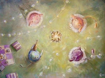 Картина для детской комнаты «Летний танец» купить картину маслом Киев