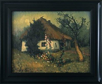 Картина «Лунная ночь» купить живопись для современных интерьеров Украина пейзаж сельский
