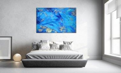 Картина абстракция для современных интерьеров «Maldives» купить живопись Киев
