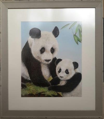 Картина «Мама и малыш панды»