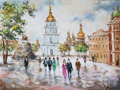 Картина «Виды Киева. Михайловская площадь»