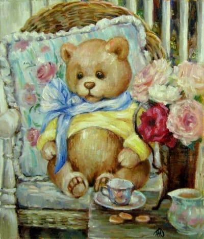 Картина для детей «Мишутка» купить живопись для современных интерьеров Украина