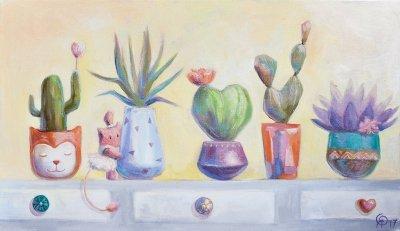 Картина для детской комнаты «Мои кактусы» купить картину маслом Киев