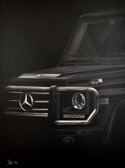 Картина акрил «Mercedes-Benz G» живопись для современных интерьеров Украина