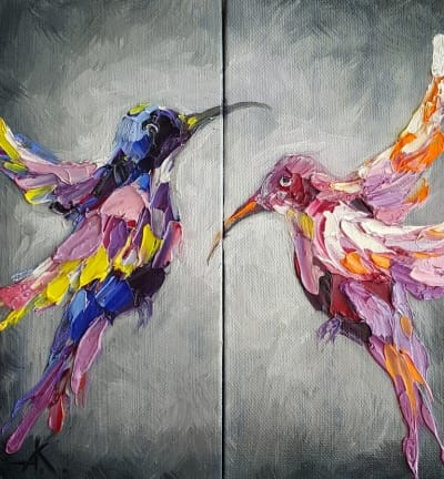 Картина птицы «На расстоянии» - картины для современных интерьеров Киев