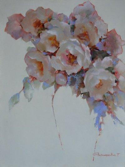 Картина цветы «Настроение» купить живопись для современных интерьеров Украина