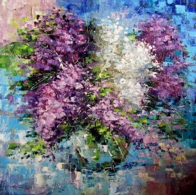 Картина маслом цветы «Настроение» купить живопись для современных интерьеров Украина